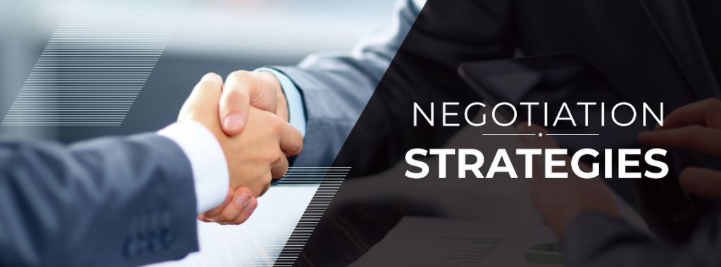 Negotiation Strategies with Business People shaking hands — Створити дизайн