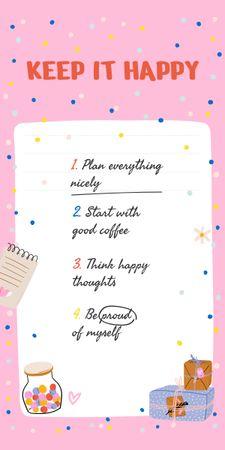 Mental Health Inspirational List Graphic – шаблон для дизайну