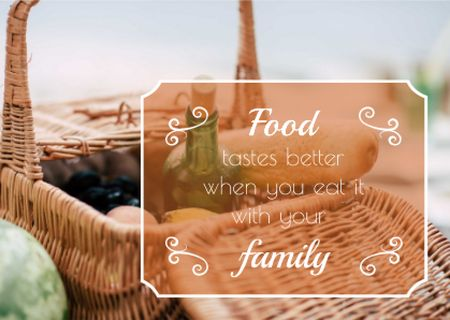 Template di design Food quote with Picnic Basket Postcard