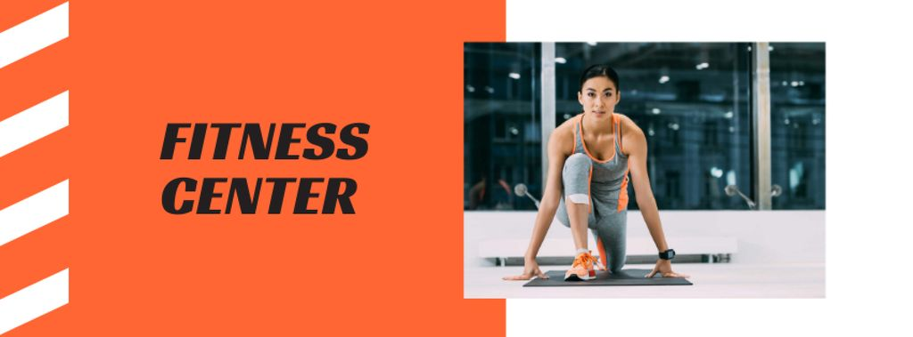 Fitness Center Ad with Woman doing Workout - Bir Tasarım Oluşturun