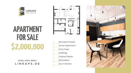 Plantilla de diseño de Real Estate Ad Stylish Room Interior FB event cover