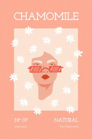 Beauty Inspiration with Daisy Flowers Illustration Pinterest Modelo de Design