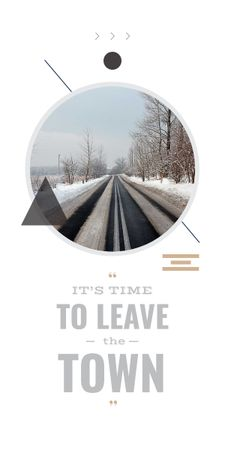 Modèle de visuel time to leave the town poster - Graphic