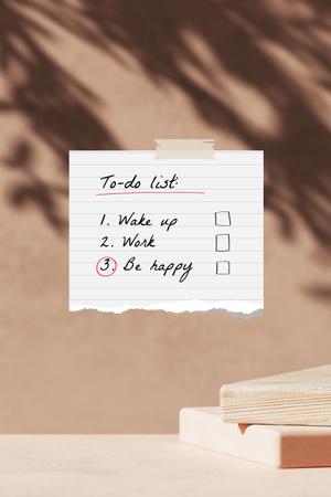 Ontwerpsjabloon van Pinterest van To-do List with Cozy Bedroom and Laptop