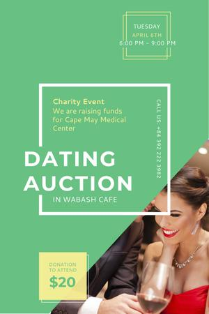 Dating Auction in Cafe Pinterest – шаблон для дизайну