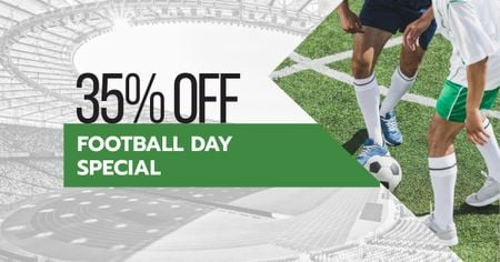 Football Day Discount Offer with Players Facebook AD Modelo de Design
