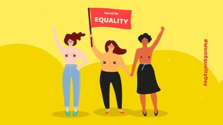 Designvorlage Women on Equality Day Demonstration für FB event cover