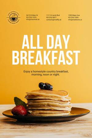 pancakes Pinterest – шаблон для дизайну