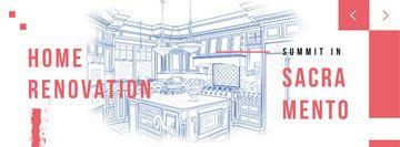 Home kitchen Interior illustration