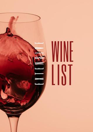 Ontwerpsjabloon van Poster van Splash of Wine in Glass
