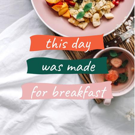 Plantilla de diseño de Delicious and healthy Breakfast Animated Post