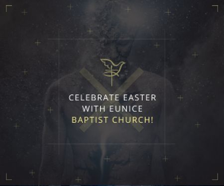 Template di design Easter in Baptist Church Medium Rectangle