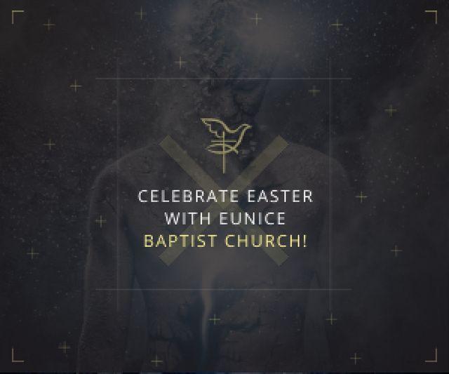 Easter in Baptist Church Medium Rectangle Design Template