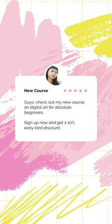 New Online Course Announcement Graphic – шаблон для дизайну