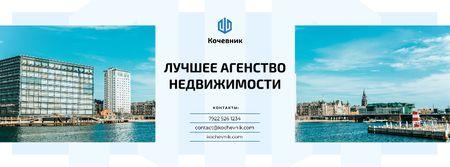 Real Estate Ad Modern City View Facebook cover – шаблон для дизайна