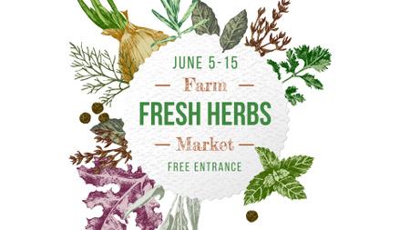 Designvorlage Farm Natural Herbs Frame für FB event cover