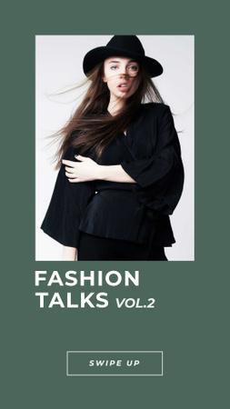 Modèle de visuel Fashion Event Announcement with Stylish Girl - Instagram Story
