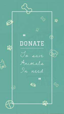 Designvorlage Donation for Animals Ad für Instagram Story