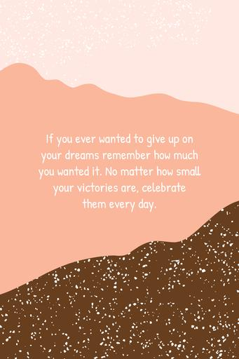 Inspiration Quote On Pink Pattern