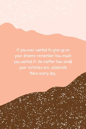 Inspiration Quote on pink pattern Pinterest Modelo de Design