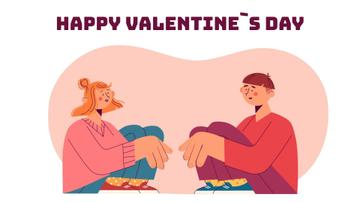 Loving couple talking on Valentine's Day