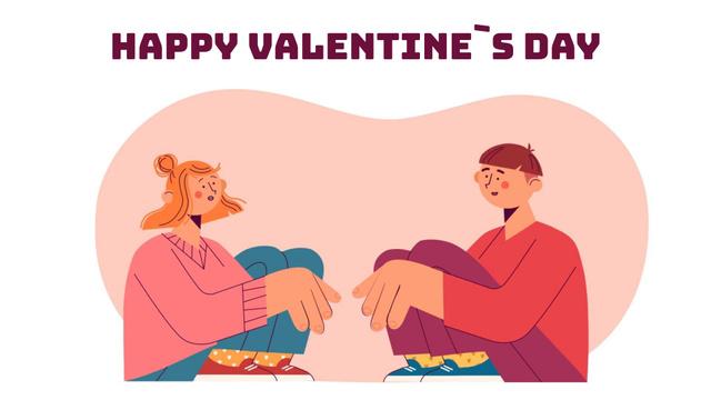 Template di design Loving couple talking on Valentine's Day Full HD video