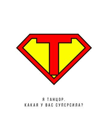 Superman's Sign with Quote T-Shirt – шаблон для дизайна
