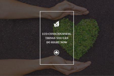 Eco-consciousness concept Gift Certificate Modelo de Design