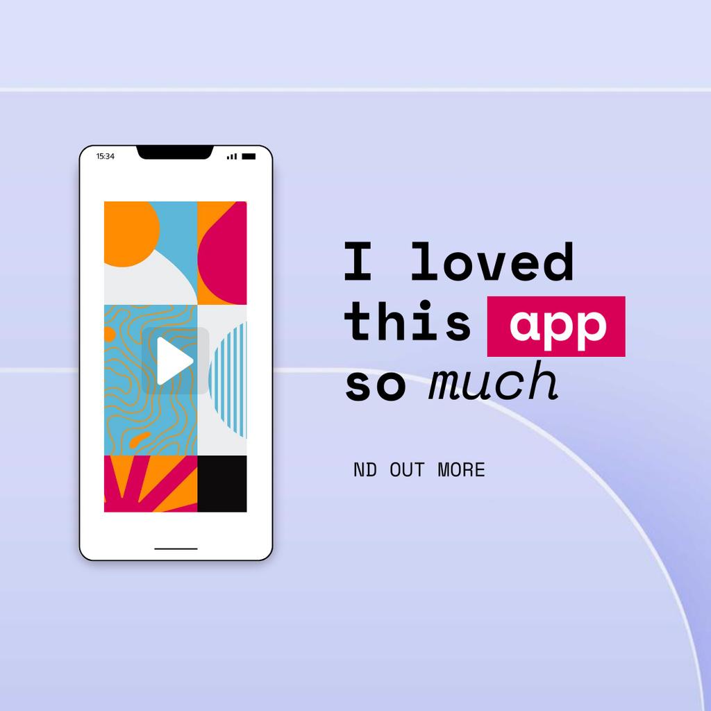 Bright App on Phone Screen Instagram Design Template