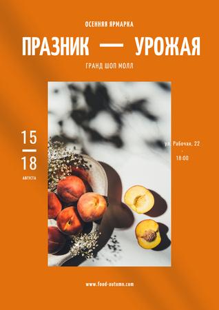 Harvest Festival with Peaches Poster – шаблон для дизайна