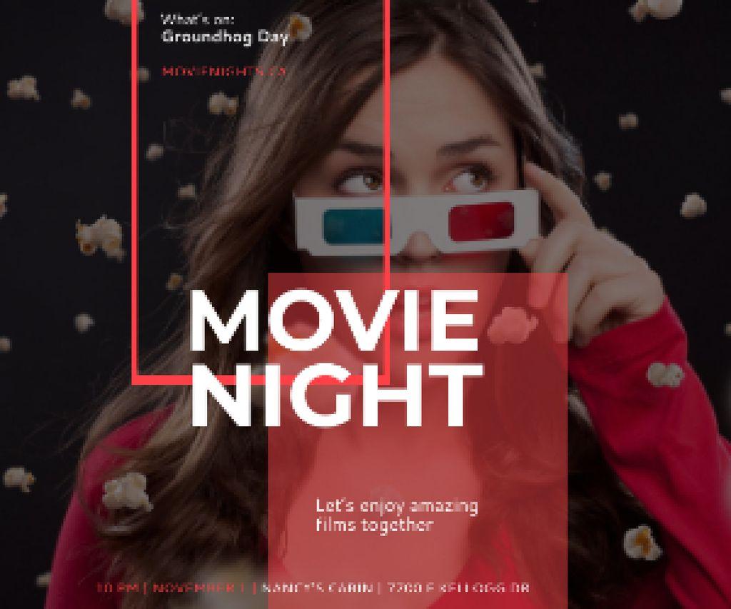 Movie night event poster — Створити дизайн