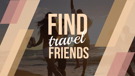 Find travel friends Youtube Modelo de Design