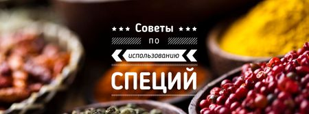 Tips for using Spices with peppers Facebook cover – шаблон для дизайна