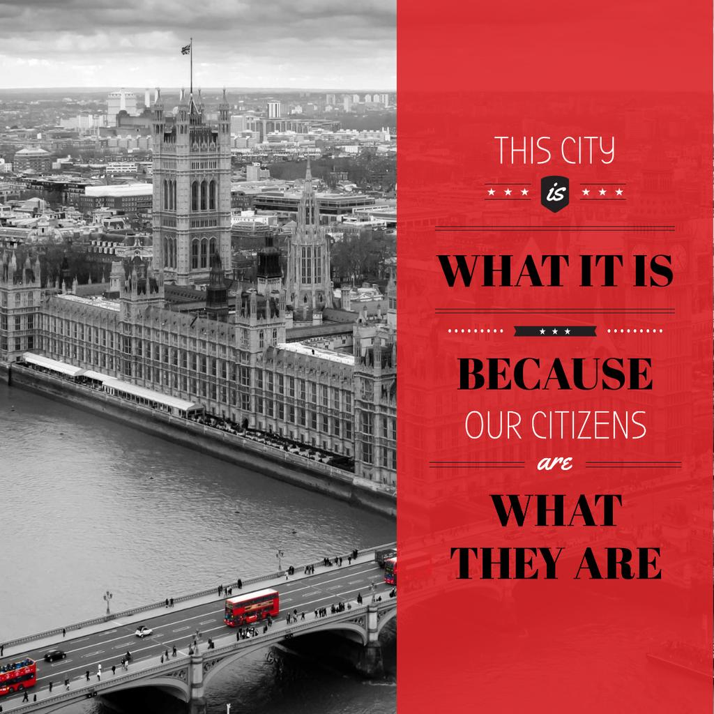 City quote with London view — Create a Design