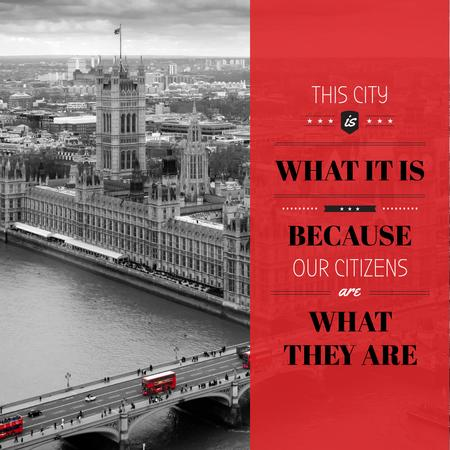 City quote with London view Instagramデザインテンプレート