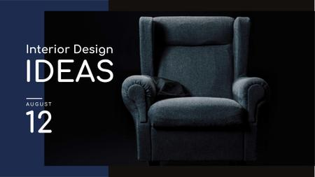 Furniture Store Sale Armchair in Blue FB event cover Modelo de Design