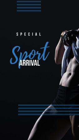Template di design Special Sport Arrival with Sportsman Instagram Story