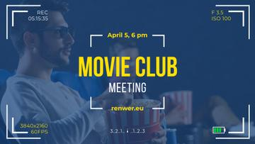 Movie Club Invitation People Watching Cinema in 3d