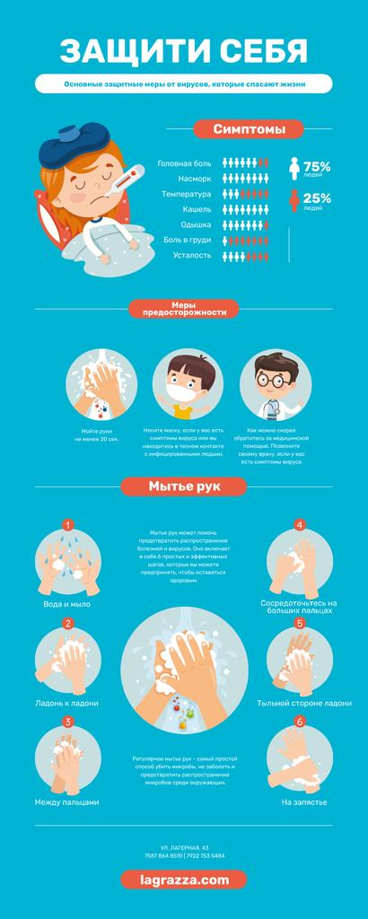 Informational infographics about Protection from Viruses Infographic – шаблон для дизайна