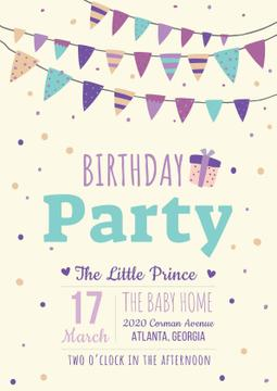 Birthday party Bright Invitation