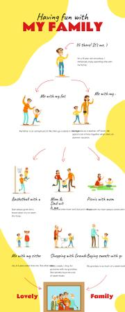 List infographics about having fun with Family Infographic – шаблон для дизайну
