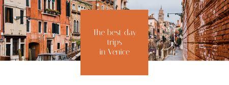 Venice city travel tours Facebook cover Modelo de Design