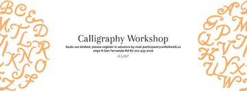 Calligraphy workshop Annoucement