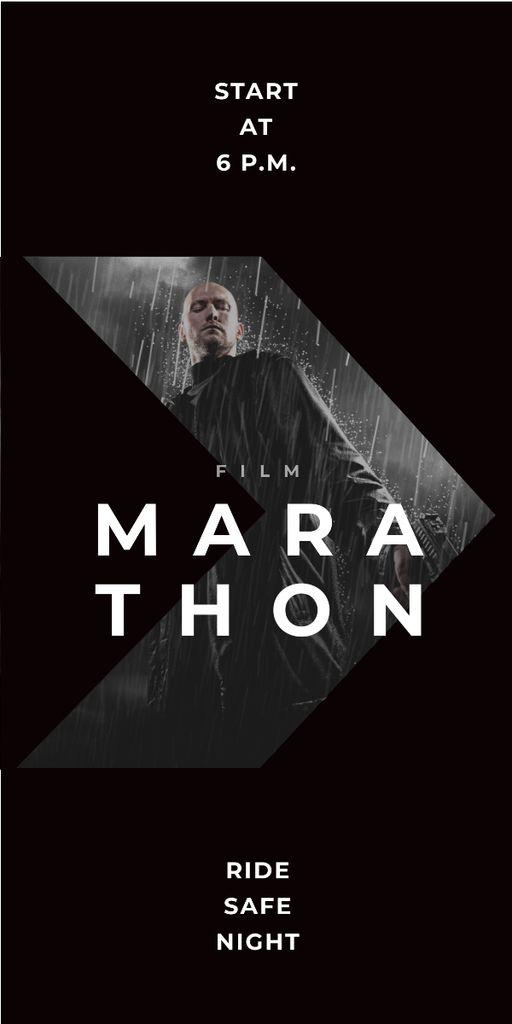Film Marathon Ad Man with Gun under Rain — Створити дизайн