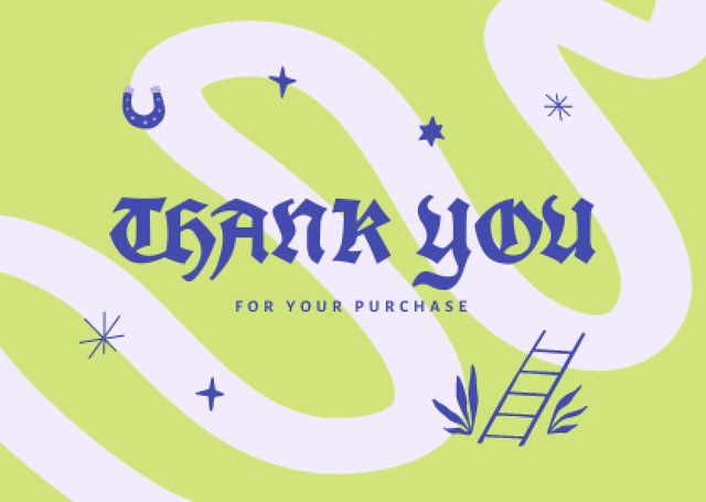 Thankful Phrase with Bright Illustration Cardデザインテンプレート