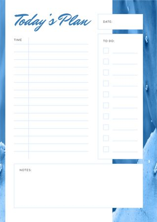 Modèle de visuel Day Plan in blue color - Schedule Planner