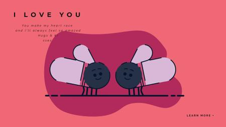 Template di design Adorable Flies giving Kisses on Valentine's Day Full HD video