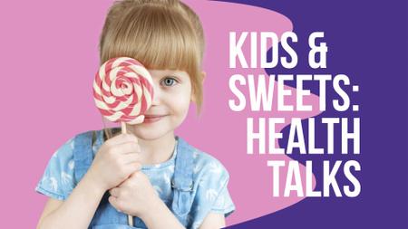 Template di design Girl Holding Lollipop FB event cover