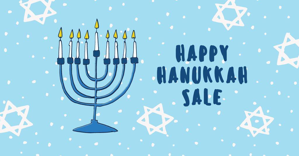 Hanukkah Sale Ad with Menorah — Create a Design
