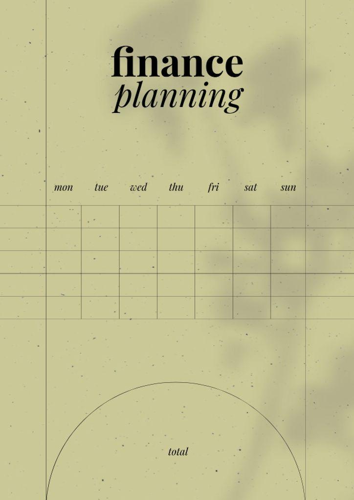 Stylish Finance planning Schedule Planner – шаблон для дизайна